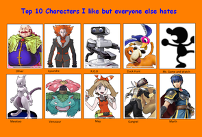 Characters I Love but People Hate by DarkGlacialKnight