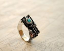 Steampunk ring Ingressundum by GatoJewel-DerKater