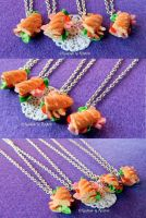 Fimo Baguette Necklaces by oOMetalbrideOo