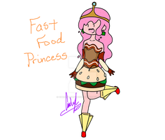 AT adoptable: Fast Food Princess SOLD by Cherryberrybonbon