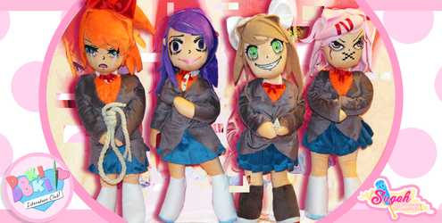 Doki Doki Literature Club Plushies - FOR SALE! by Sugah-Stixx