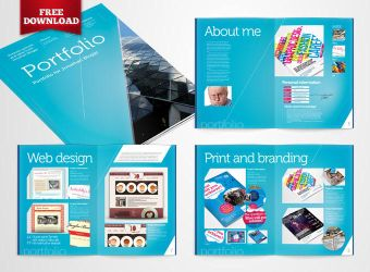Free InDesign Portfolio Template by CRS-InD-Templates