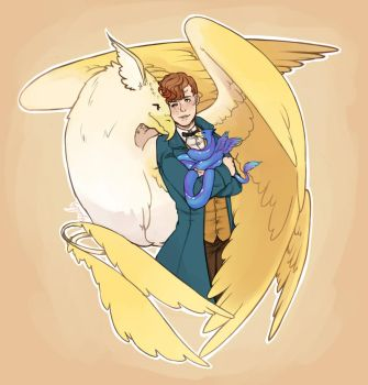 Precious Newt and his Fantastic Beasts by x-Meadowsweet-x