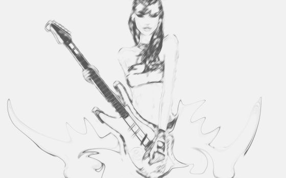Girl with guitar by PiroRM