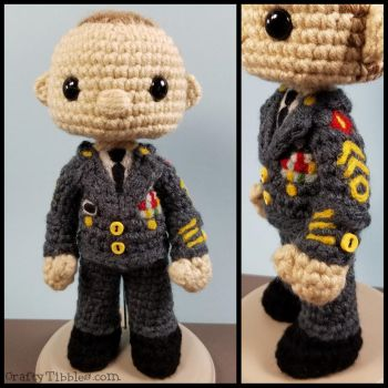 Custom Crochet - US Army Soldier by CraftyTibbles