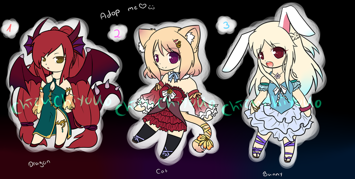 Adoptables (Closed) by chizuchiyoko