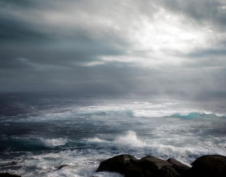 STORM AT SEA BG STOCK II by ArwenArts