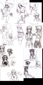 Shibusen Sketch Dump by TheDarkDeath
