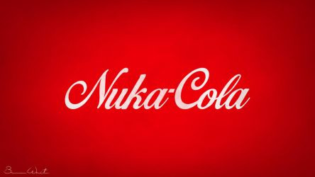 Nuka-Cola Logo Redesign Wallpaper by polygonbronson