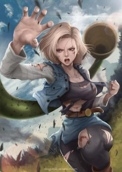 Dragon Ball Android 18 by magion02
