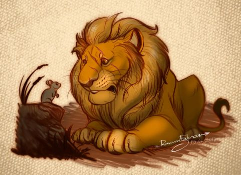 The Lion And The Mouse by R-FakonWolf