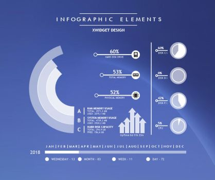 Infographic Elements for xwidget by Jimking