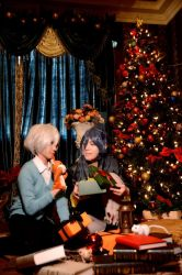 Shion and Nezumi in Christmas - cosplay by daimiku
