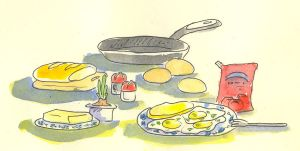 Fried eggs by jkBunny