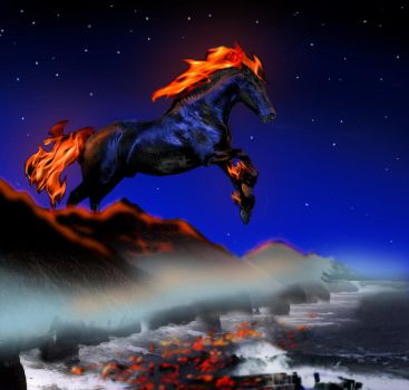 The horse of Apocalypse by Vrolok87