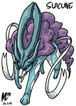 Suicune | FreeArt #82 by blue-hugo