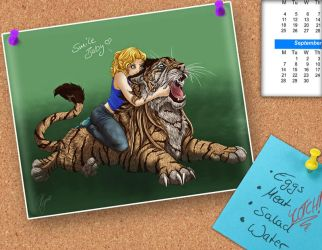 Smile, big kitty-cat by Thyria