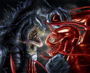 Venom Vs Carnage by DISENT