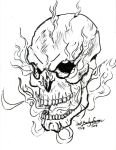 Burning Skull by Baron-Nutsnboltz