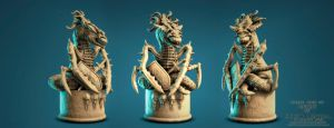 Cthulhu Chess Set: The Knight By Sergio Mengual by SergioMengual2012