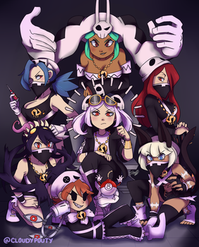 Team SKULLgirls by cloudypouty