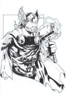 Thor [Pencil and ink on paper - A4] by LudoDRodriguez