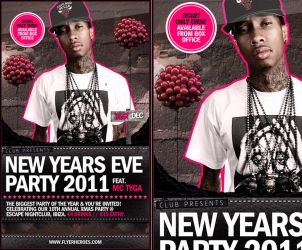 New Years Eve Party Flyer Template by quickandeasy1