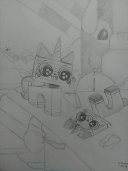 Unikitty With Her Bro by Unicuck