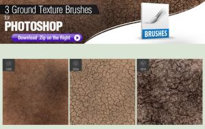 3 Photoshop Brushes for Painting Ground Texture by pixelstains