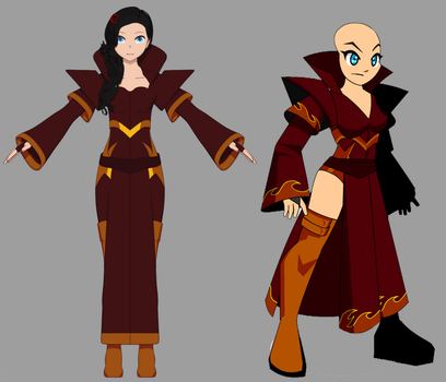 AQW Molten Robe in 3D by GraySilhouette