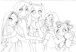 My OCs together x3 by NanakoHarrison