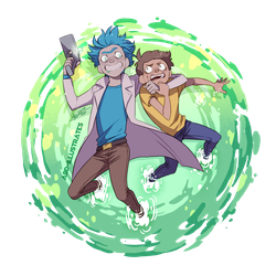 Rick and Morty  by ABD-illustrates