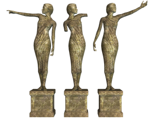 Statues 02 PNG Stock by Roy3D