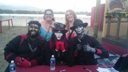 me and my BFF with steam powered giraffe by Bella-Who-1