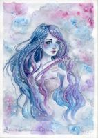 Starry sky- by ARiA-Illustration