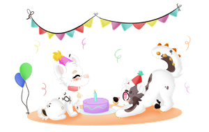 Chibi Party! by oliv-berry