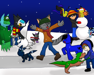 Spreading the Holiday Cheer!!! by ChaoticFeline
