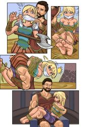 Astrid kidnapped by Mikael comic by DustnMud