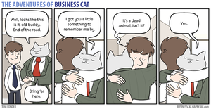 The Adventures of Business Cat - Parting Gift by tomfonder