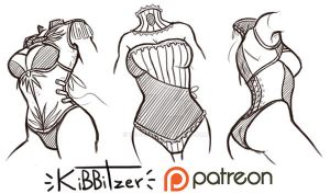Corsets reference sheet by Kibbitzer