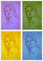Fast portrait in Warhol's style by sai-kin
