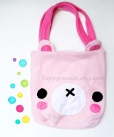 Pink Bear Bag by CosmiCosmos