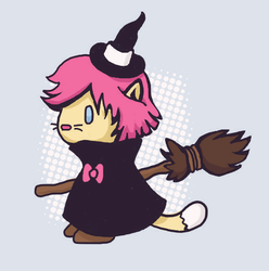 Witchy Kitty by sweetvillain
