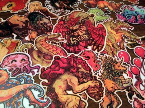 New Stickers up in the Shop by dmillustration