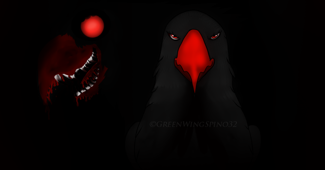 Goretober Day 5 Monster Form by GreenWingSpino32
