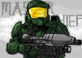 Master Chief by Exaxuxer