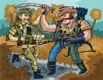 Gijoe Artwork: Recondo vs. Gnawgahyde by ehudsbloodysword