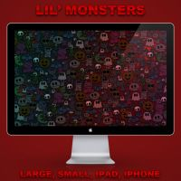Lil' monsters wallpaper pack by Lukeedee
