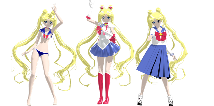 Sailor Moon Crystal Model DL by Gummi-Candy