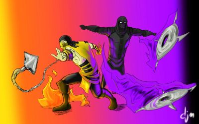 Scorpion and Noob team (requested by Scorpion-MKX) by djm106